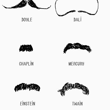 Famous Moustaches by SallySparrowFTW
