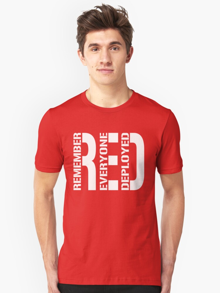 RED - Red on Fridays Unisex T-Shirt Front