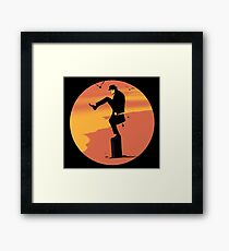 Silly Karate Framed Print