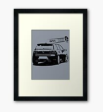 vw golf, golf gti Framed Print