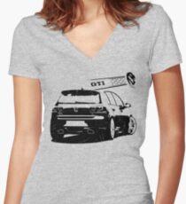 vw golf, golf gti Women's Fitted V-Neck T-Shirt
