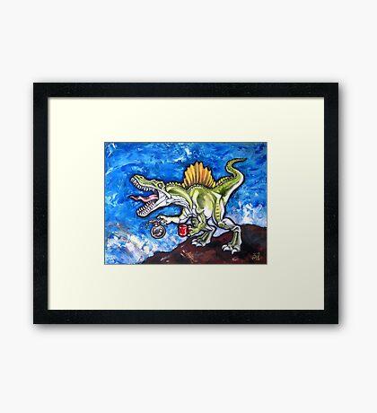 Caffeinosaurus And Water Framed Print