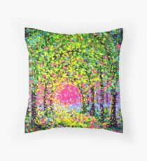 The Arches in Green by John E Metcalfe Throw Pillow