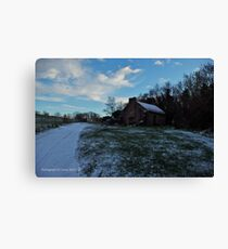 Thatched Cottage and Winter's Sky, Cultra, County Down. Canvas Print