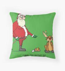 Santa's Gift Throw Pillow