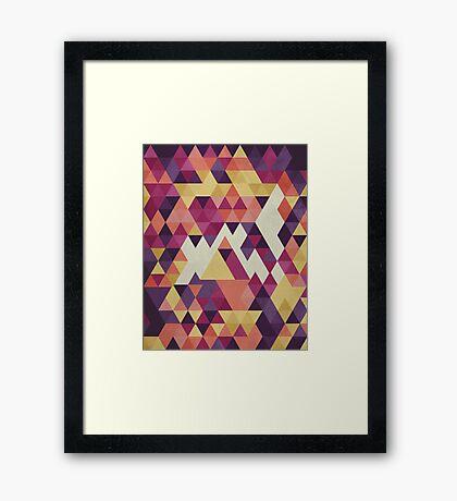 Geometri III Framed Print