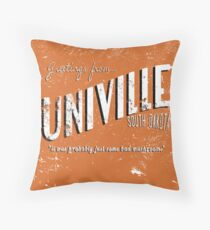 Greetings from Univille Throw Pillow