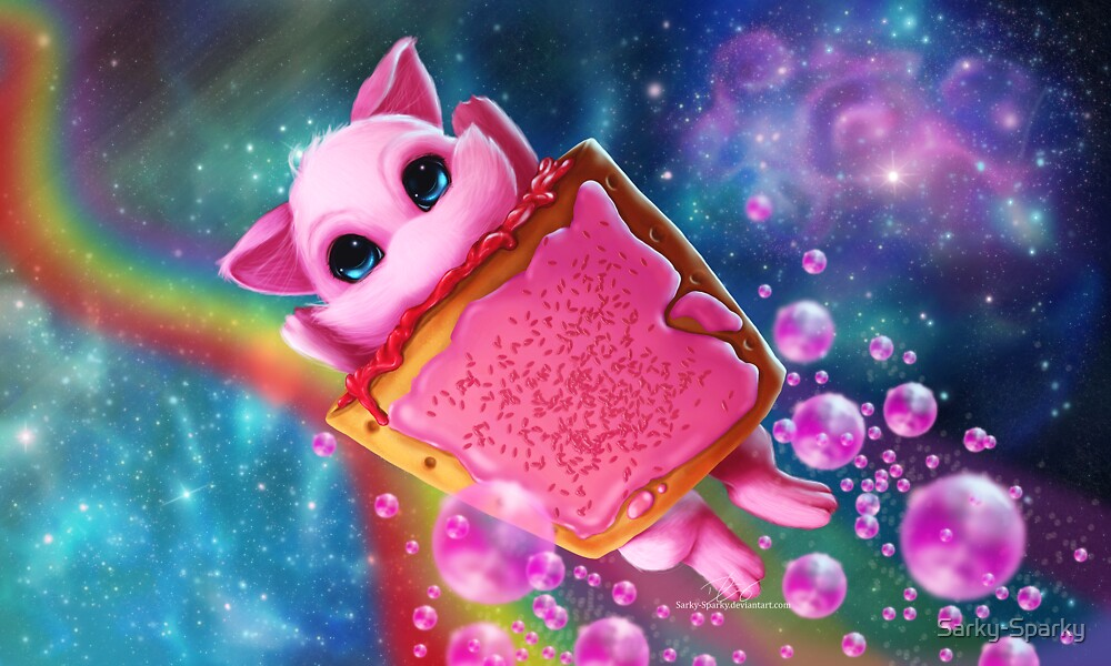Rainbow Pop Tart Space Mew by Sarky-Sparky