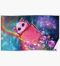 Rainbow Pop Tart Space Mew Poster