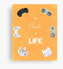 The Circle Of Video Games Canvas Print
