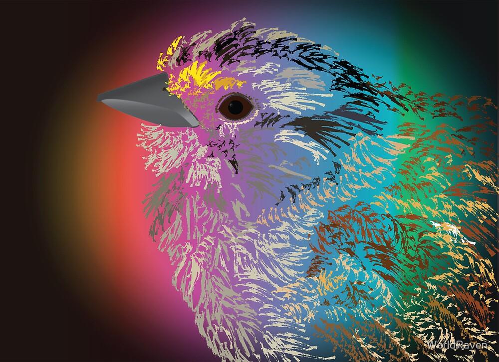 Rainbow Bird by WorldRaven
