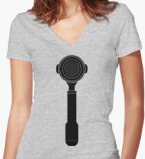 Portafilter XXL Women's Fitted V-Neck T-Shirt