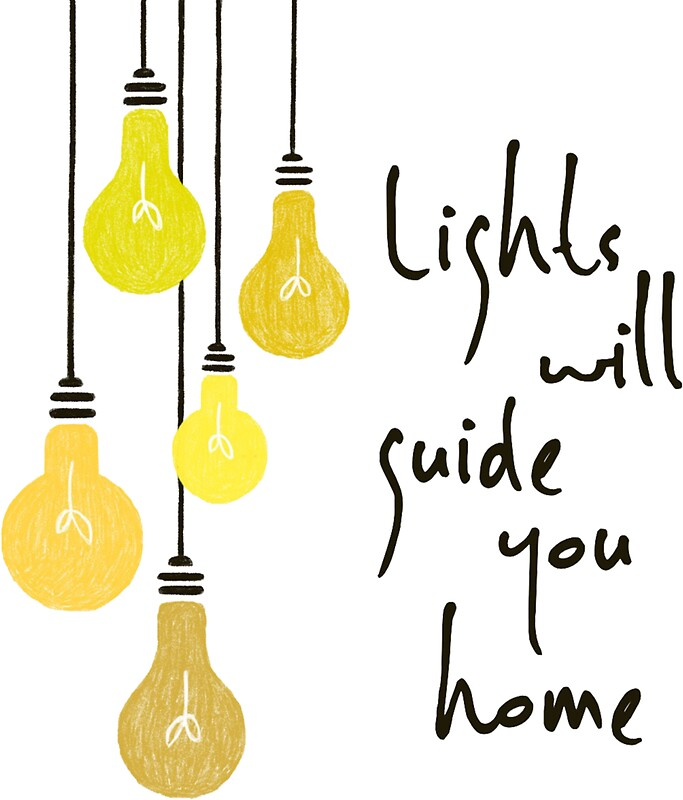 """""""Lights Will Guide You Home"""" Stickers By Bubbliciousart"""