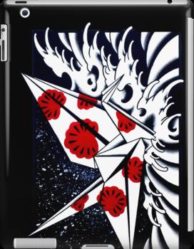 Origami Crane ipad Case by Nate Luna
