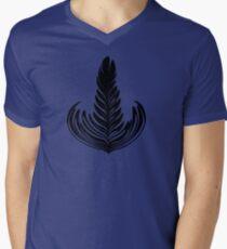 Rosetta black Mens V-Neck T-Shirt