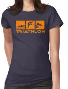 Triathlon modern icons Womens Fitted T-Shirt