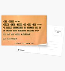 Hee Haw and Merry Christmas, Sam Wainwright Postcards