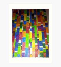 Colour Stratae Art Print