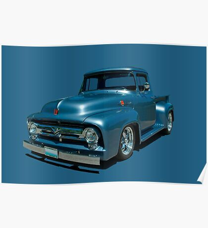1956 Ford F100 Pickup Truck Poster
