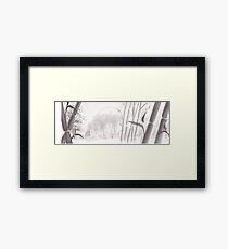 Totoro sumi-e Framed Print