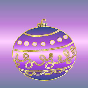Merry Christmas happy holidays card with bauble by cmhall