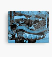 Bird Bath Trip Metal Print