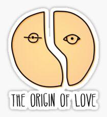 The origin of love Sticker