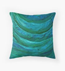 Water by Florida Artist John E Metcalfe Throw Pillow