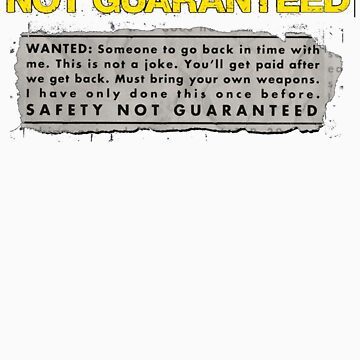 Safety Not Guaranteed by lettucefiends