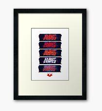 Caskets Comics Logo Framed Print