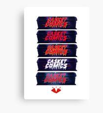 Caskets Comics Logo Canvas Print