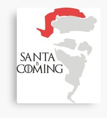 Santa is coming - Game of thrones  Canvas Print