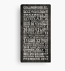 2010 AFL Premiers - Collingwood FC Canvas Print
