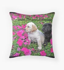 Too Many Flowers Throw Pillow