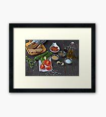fresh vegetables Framed Print