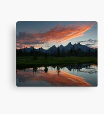 Schwabacher Landing - Grand Teton National Park, Wyoming Canvas Print