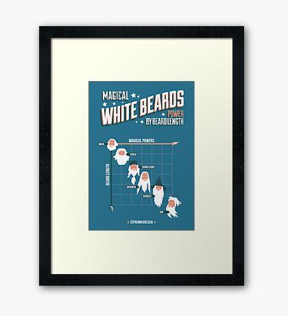 Magical White Beards Framed Print