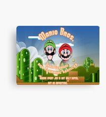 Mario Bros. Drain Cleaning & Plumbing Service Canvas Print