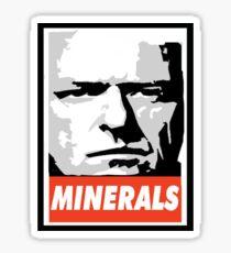 Minerals- Hank Obeys Sticker