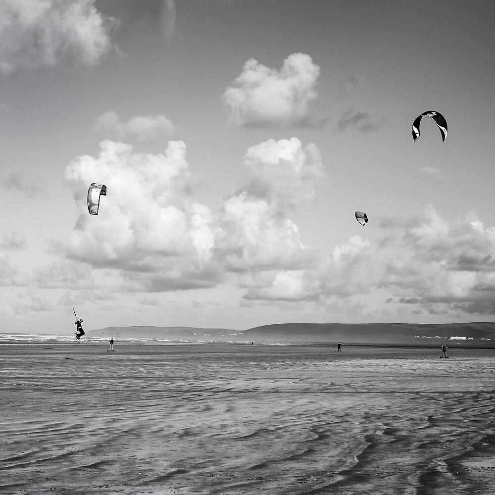 Kite Boarders by John Burtoft