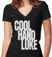 Cool Hand Luke Women's Fitted V-Neck T-Shirt