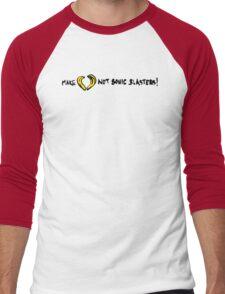 Make Love Not Sonic Blasters Men's Baseball ¾ T-Shirt