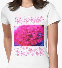 Fuschia bush Womens Fitted T-Shirt