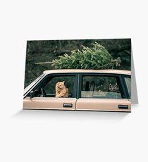 Volvo Christmas Cats Greeting Card