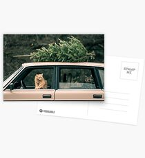 Volvo Christmas Cats Postcards