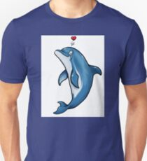 Bottlenose Dolphin Love Unisex T-Shirt