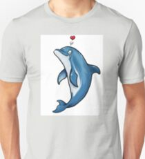 Bottlenose Dolphin Love Unisex T-Shirt