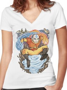 Avatar of the Air Nomads Women's Fitted V-Neck T-Shirt