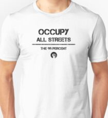 Occupy All Streets Commando Style - Black Unisex T-Shirt