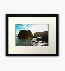 Sunflare Rock Framed Print